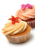 Cup cakes. On a white background royalty free stock image