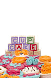 Cup cakes Stock Images