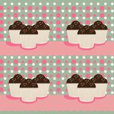 Cup cakes background Stock Photo