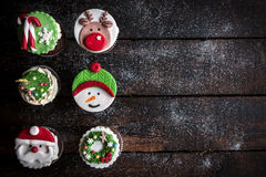 Cup cakes for Christmas Royalty Free Stock Photography