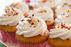 Cup cakes close up Stock Photo