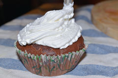 Cup cakes with cream Stock Photos