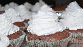 Cup cakes with cream Stock Photography