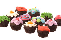Cup Cakes Isolated Royalty Free Stock Photos