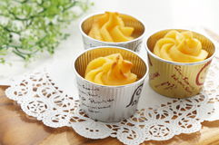 Cup cakes made from sweet potatoes. Royalty Free Stock Photography