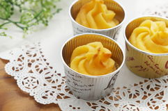 Cup cakes made from sweet potatoes. Stock Image