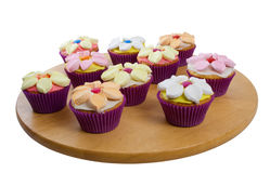 Cup Cakes Over White Background Stock Photo