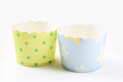 Cup cakes or packing cups for cookies Stock Photography