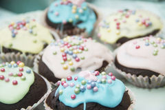 Cup Cakes. Use these cute easter cup cakes on your blog or website, they are too good not to eat Royalty Free Stock Photos