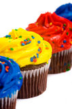 Cup Cakes on White Royalty Free Stock Images