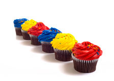 Cup Cakes on White Stock Photo