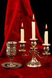 Cup and candles Royalty Free Stock Photography