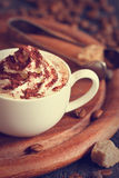 Cup of cappuccino. Royalty Free Stock Photography