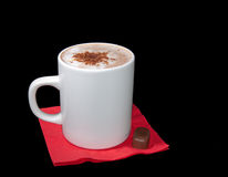 Cup of cappuccino with chocolate chips Stock Photo