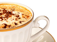 Cup of cappuccino close-up Royalty Free Stock Images