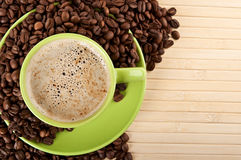Cup of cappuccino with coffee Stock Photography