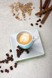 The cup of cappuccino coffee Stock Photography