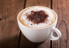 Cup of cappuccino coffee Stock Image