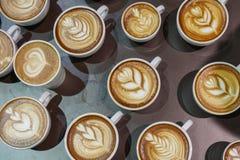 Cup of cappuccino coffee. Stock Photos