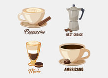 Cup of cappuccino coffee on saucer Royalty Free Stock Image