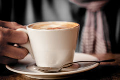 Cup of Cappuccino Coffee Stock Images