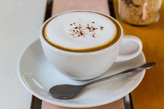 Cup of Cappuccino coffee. Royalty Free Stock Image