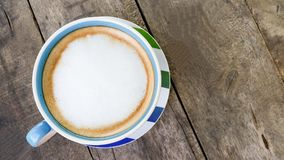 A cup of cappuccino coffees Royalty Free Stock Photography