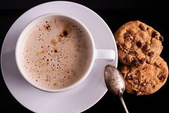 Cup of Cappuccino with cookies Royalty Free Stock Photography