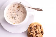 Cup of Cappuccino with cookies Royalty Free Stock Image