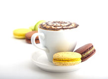 A cup of cappuccino with cookies Stock Photography
