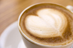 Cappuccino love Stock Images