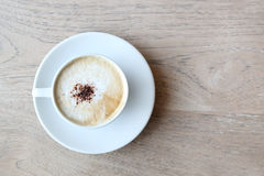 Cup of cappuccino with foam Royalty Free Stock Photo