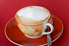 A cup of cappuccino,fresh brewed Stock Image