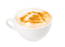 A Cup of Cappuccino with Froth, Cinnamon Stock Photos