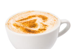 A Cup of Cappuccino with Froth, Cinnamon Royalty Free Stock Image