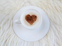 Cup with cappuccino Stock Image