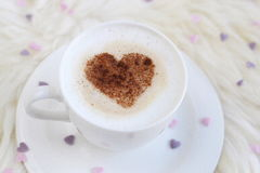 Cup with cappuccino Royalty Free Stock Photography