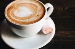 Cup of cappuccino. stock photography