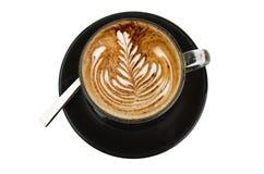 Cup of cappuccino rosetta Stock Photo