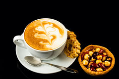 Cup of cappucino royalty free stock images