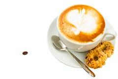 Cup of cappucino stock photos