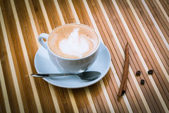 Cup of cappucino stock images