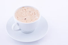 A cup of capuccino Stock Images