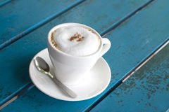 A cup of Capuchino coffee Royalty Free Stock Images