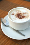 A cup of Capuchino coffee Stock Images