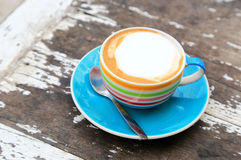 A cup of Capuchino coffee Royalty Free Stock Image
