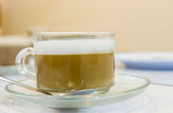 Cup of capuchino coffee Royalty Free Stock Photo
