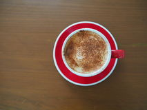 cup of capuchino coffee Stock Photography