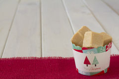Cup of Caramel Fudge Christmas Gift Stock Photos