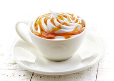 Cup of caramel latte Royalty Free Stock Images